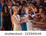 venice  italy   september 05 ... | Shutterstock . vector #215344144