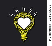 creative white heart on sketch...   Shutterstock .eps vector #215353933