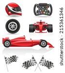set racing icons vector... | Shutterstock .eps vector #215361346