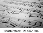 sheet music background musical... | Shutterstock . vector #215364706
