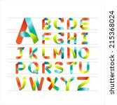 ribbon alphabet colorful font ...