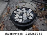 Dutch Oven With Coals On Top In ...