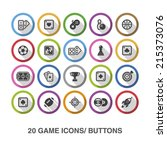 game flat icons  buttons with... | Shutterstock .eps vector #215373076