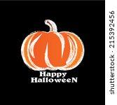 happyhalloween   pumpkin | Shutterstock .eps vector #215392456