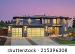 beautiful exterior of new...   Shutterstock . vector #215396308