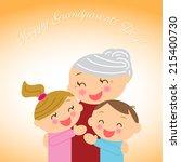 grandparents day   Shutterstock . vector #215400730
