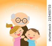 grandparents day   Shutterstock . vector #215400733
