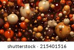 spheres background in brown... | Shutterstock . vector #215401516
