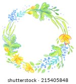 floral frame painted with... | Shutterstock .eps vector #215405848