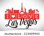 i love las vegas typography... | Shutterstock .eps vector #215409943