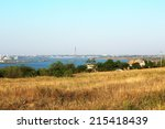 panoramic sight of city in... | Shutterstock . vector #215418439