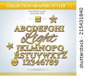 light graphic styles for... | Shutterstock .eps vector #215431840