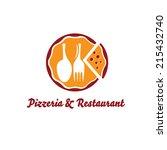 pizzeria and restaurant vector... | Shutterstock .eps vector #215432740