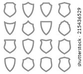 shield icons set  outlined ... | Shutterstock .eps vector #215436529