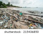 Garbage And Wastes On The Beac...
