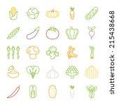 vegetables  icons   flat design ... | Shutterstock .eps vector #215438668