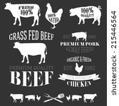 vector collection of beef ... | Shutterstock .eps vector #215446564