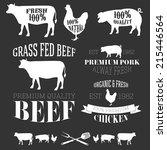 vector collection of beef ... | Shutterstock .eps vector #215446564