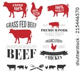 vector collection of beef ... | Shutterstock .eps vector #215446570