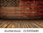 wooden american vintage stage... | Shutterstock . vector #215450680