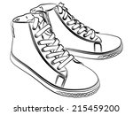 sports shoes  | Shutterstock .eps vector #215459200