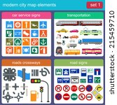 modern city map elements for... | Shutterstock .eps vector #215459710