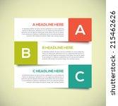 3d modern infographics design...   Shutterstock .eps vector #215462626