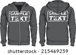 men's hoodie shirts template.... | Shutterstock .eps vector #215469259