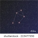 Постер, плакат: star constellation of libra