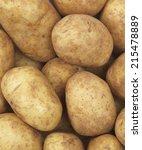 gropup of raw potatos full frame | Shutterstock . vector #215478889