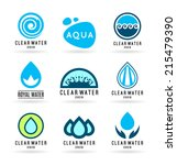 set of water design elements.... | Shutterstock .eps vector #215479390