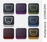 app concept  cat | Shutterstock .eps vector #215481394