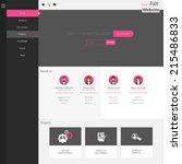 flat website template  homepage ...