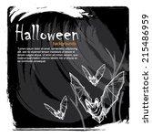 vector halloween background... | Shutterstock .eps vector #215486959
