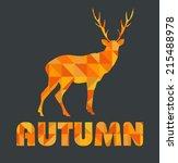 autumn geometric card   Shutterstock .eps vector #215488978
