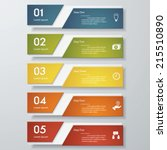 design clean number banners... | Shutterstock .eps vector #215510890