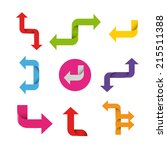 colorful arrows set vector... | Shutterstock .eps vector #215511388
