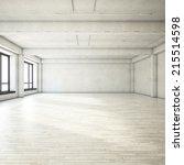 Small photo of Bright clean interior. Empty open plan interior.