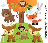 forest animals vector... | Shutterstock .eps vector #215517424