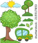 illustration featuring a car... | Shutterstock .eps vector #215517853