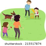 illustration featuring a family ... | Shutterstock .eps vector #215517874