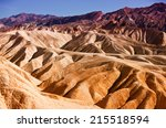 heavily eroded ridges at the...   Shutterstock . vector #215518594