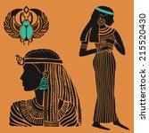 egypt set   Shutterstock .eps vector #215520430