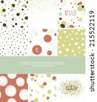 a set of 9 confetti  polka dot... | Shutterstock .eps vector #215522119