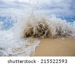 Waves Breaking On A Stony Beach ...