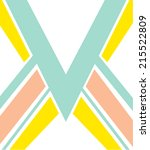 chevron print in bright colors... | Shutterstock .eps vector #215522809