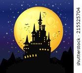 halloween background  black... | Shutterstock .eps vector #215525704