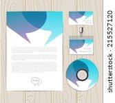 vector corporate identity... | Shutterstock .eps vector #215527120