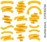 vector vintage ribbons set | Shutterstock .eps vector #215530246