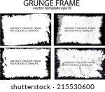 grunge frame set. vector... | Shutterstock .eps vector #215530600